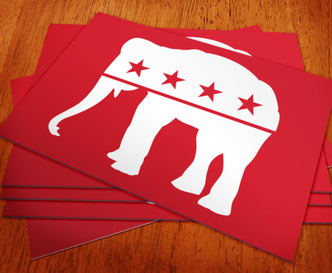 Republican - Red Elephant Rally Sign