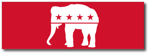 Red Elephant Magnetic Bumper Sticker