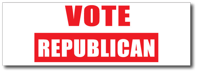 Vote Republican Magnetic Bumper Sticker
