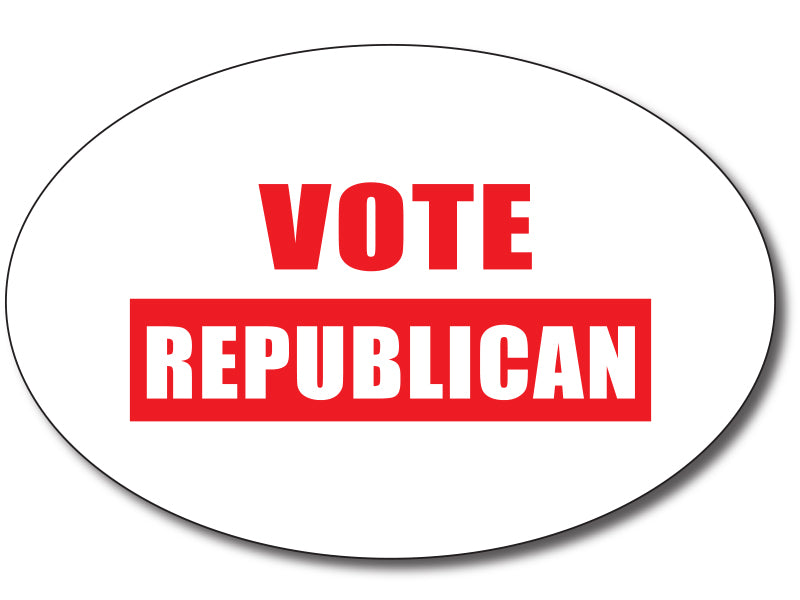 Vote Republican Oval Bumper Sticker