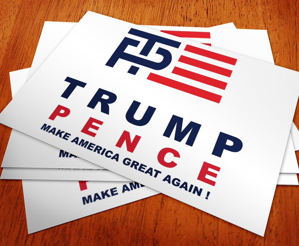 Donald Trump and Mike Pence Logo Rally Sign