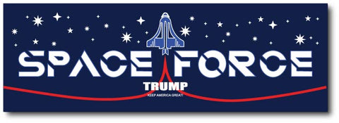 Space Force Bumper Sticker