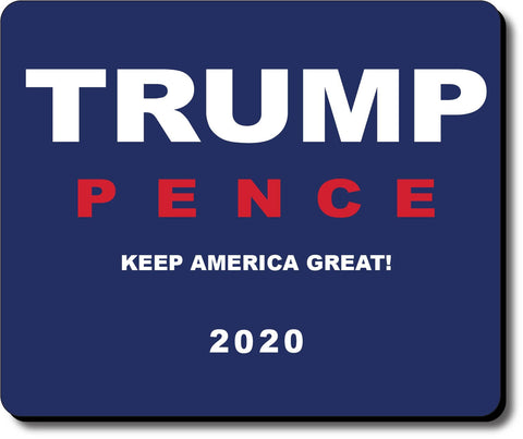 Donald Trump and Mike Pence 2020 Blue Mouse Pad