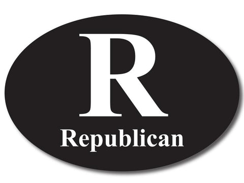 Republican R Oval Bumper Sticker