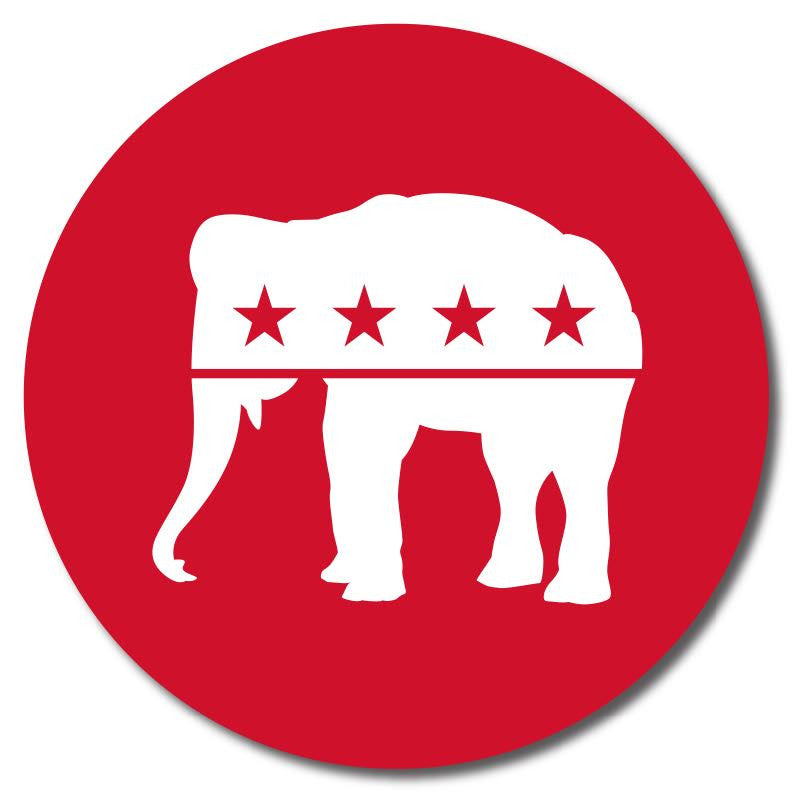 Republican - Red Elephant Button