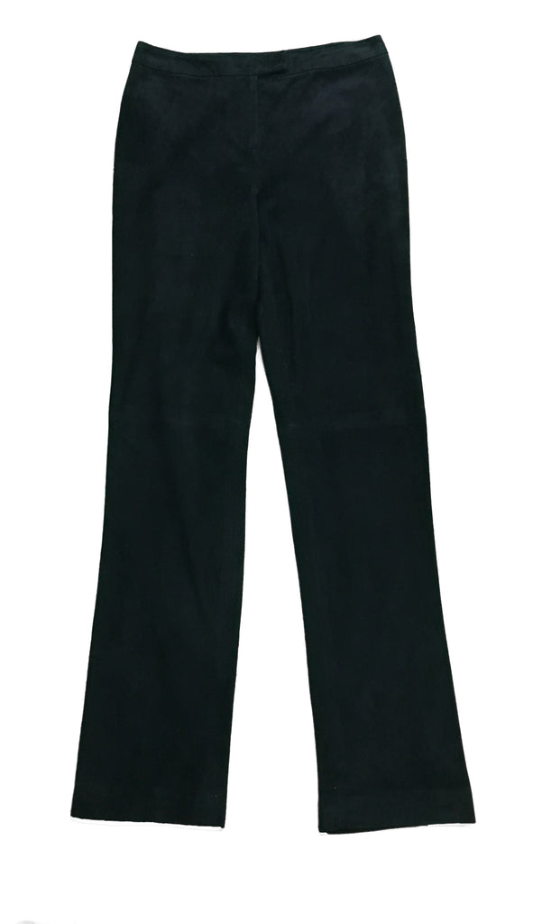 ST. JOHN Black Suede Trousers