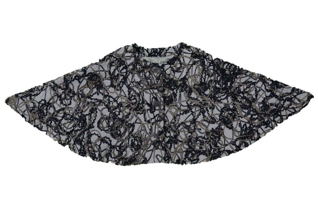 KINJI Black, Flint, Coin Shawl