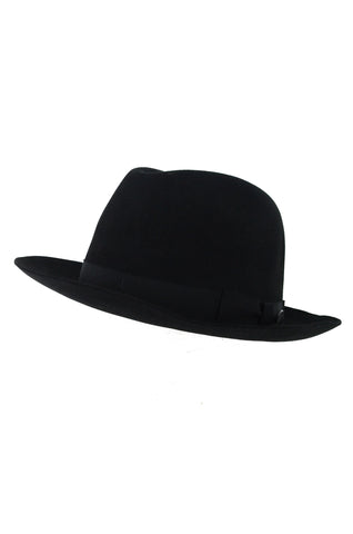 BAILEY OF HOLLYWOOD Black Felt Fedora Draper II ( in aid of Hagar)