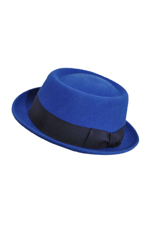 BAILEY OF HOLLYWOOD Royal Blue Fedora with Black (in aid of Hagar)