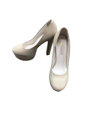 LOVE IT Grey Platform Pumps