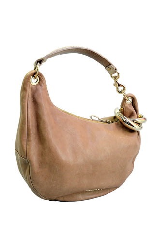 JIMMY CHOO Camel Beige Hobo Bag