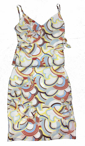 CACHAREL Multi-colour Summer Top with Matching Skirt