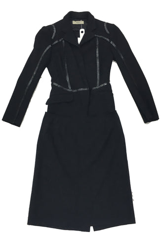 PRADA Black Wool Skirt Suit