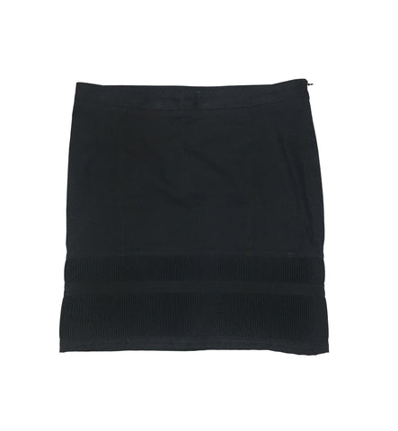 BURBERRY Navy Cotton Skirt