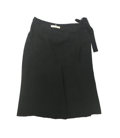 PRADA Black Silk Ruffle Skirt