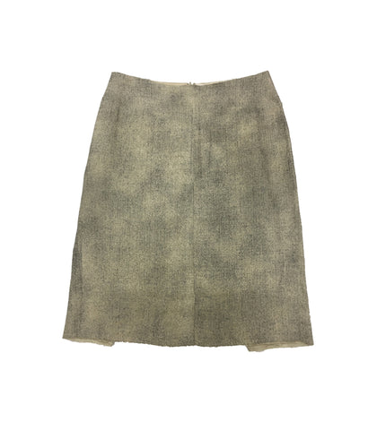 ROLAND MOURET Beige and Grey Skirt