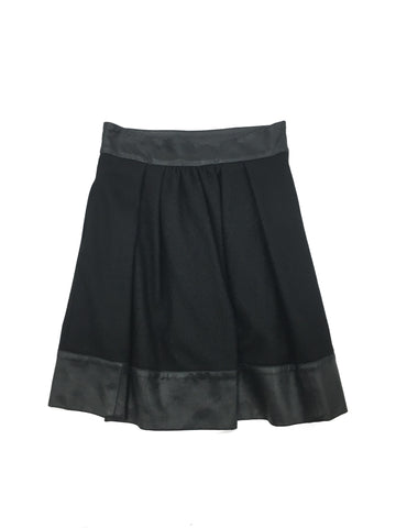 ADAM Black Gathered Skirt