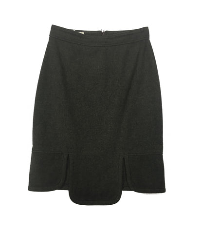 GIVENCHY Brown Wool Skirt