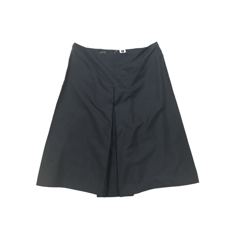 PRADA Navy Silk Skirt with Pleat