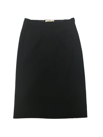 PRADA Black Wool Skirt with Vent
