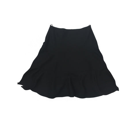 PRADA Black Flared Wool Skirt