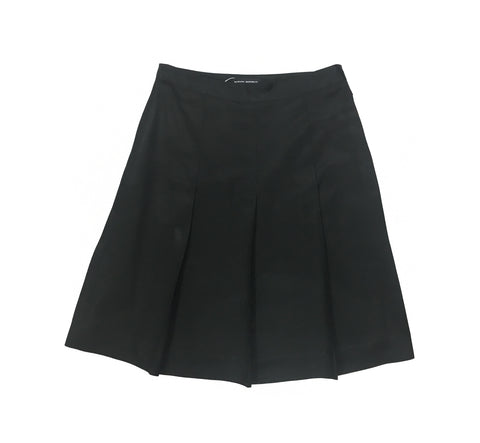 BANANA REPUBLIC Black Pleated Silk Skirt
