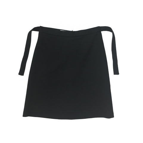 GOAT Black Skirt with Ribbon