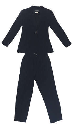CHANEL Navy Trouser Suit