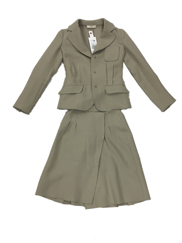 PRADA Beige Wool Skirt Suit