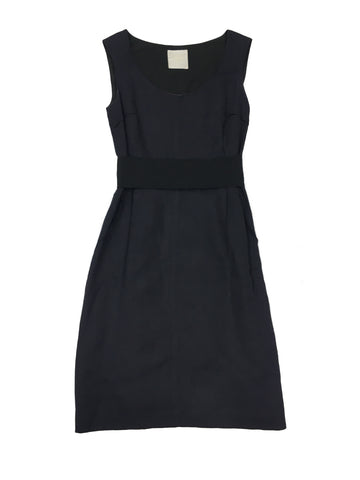 LANVIN Navy Sleeveless Dress