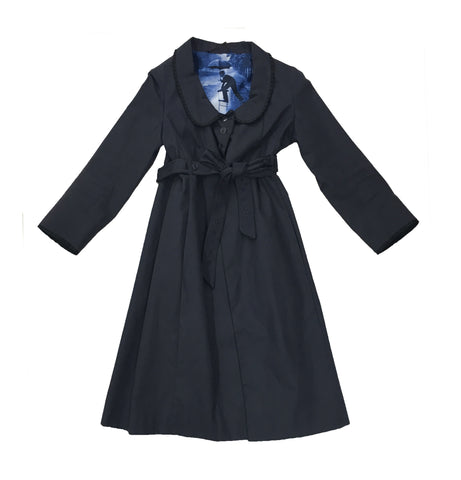 ANYA HINDMARCH Navy Trench Coat