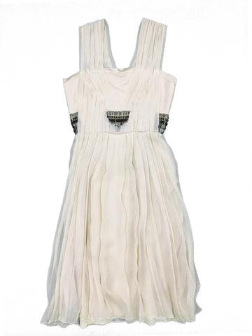 ALBERTA FERRETTI Cream Silk Dress