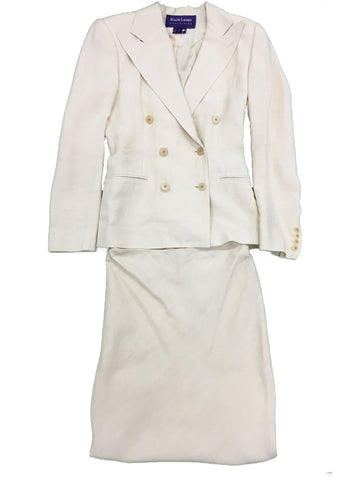 RALPH LAUREN Cream Skirt Suit