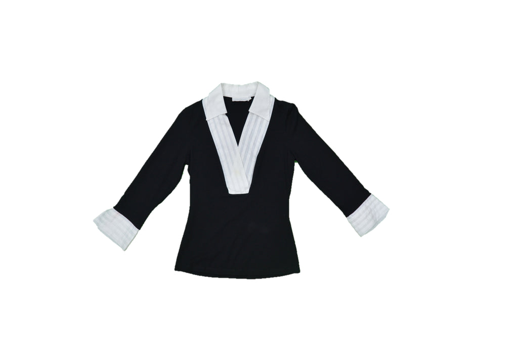 ANNE FONTAINE Black, White Blouse