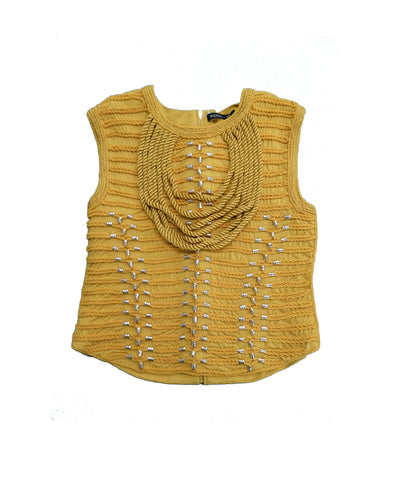 BALMAIN X H&M Mustard Sleeveless Top