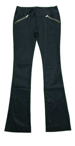 CAMEO Black Gold Zip Pockets Trousers