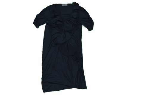 A.T Black Dress with Ruffles