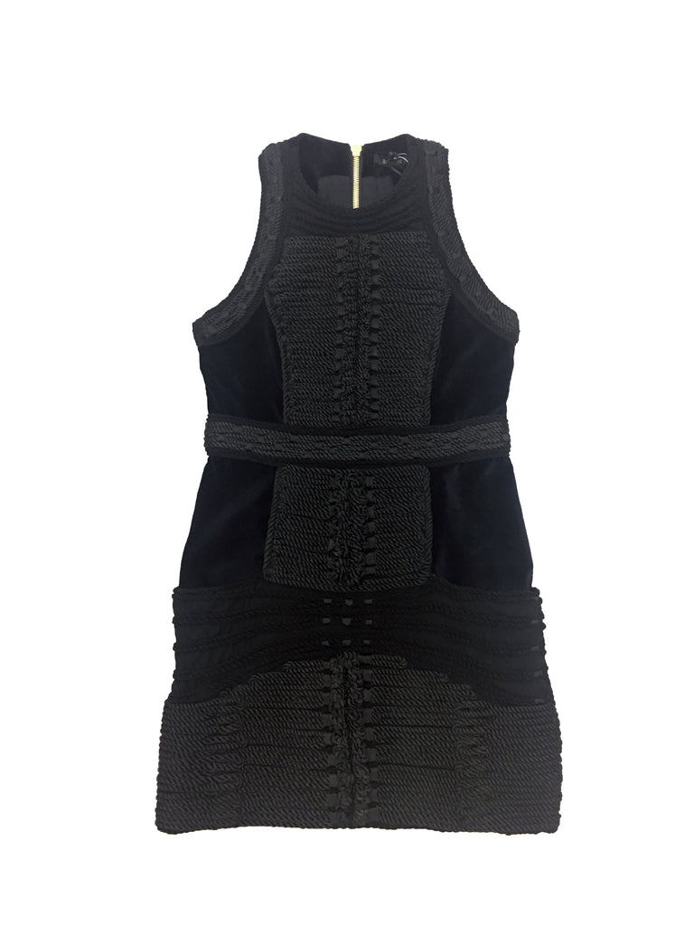BALMAIN X H&M Black Cotton Velvet Dress