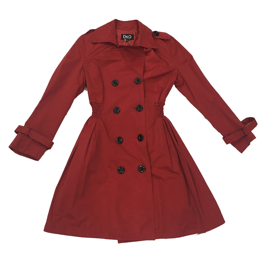 DOLCE & GABBANA Red Trench Coat