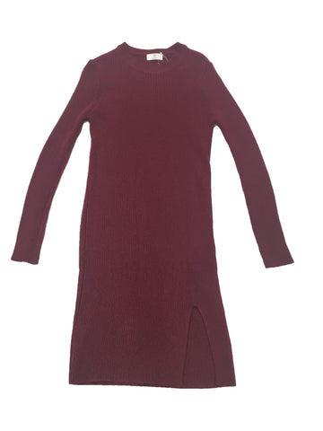 AROUND 101 Burgundy Sweater Dress