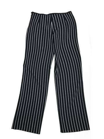 ARMANI COLLEZIONI Navy Trousers with White Stripe