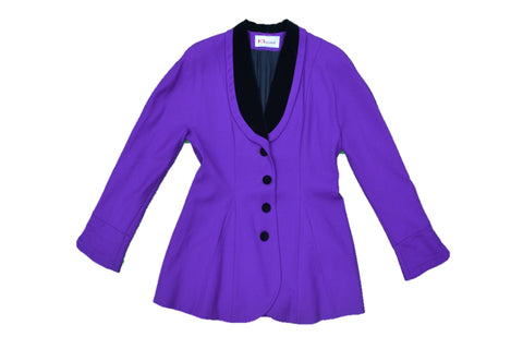 KL BY KARL LAGERFELD Purple Black Jacket