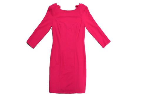 DIANE VON FURSTENBERG Red Long Sleeves Dress