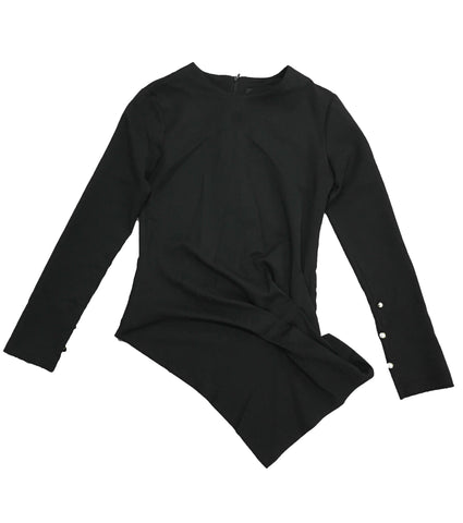 CONTROL X Black Asymmetrical Top