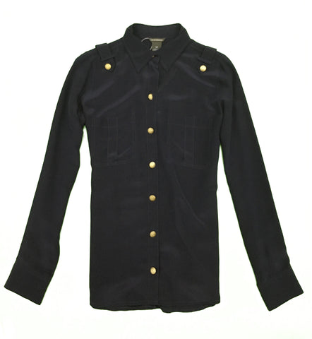 CLUB MONACO Navy Long Sleeves Shirt
