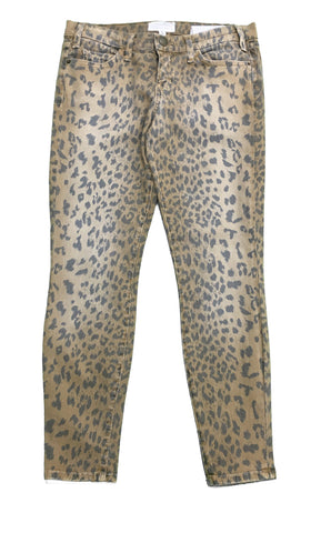 CURRENT/ELLIOTT Leopard Print Brown Jeans