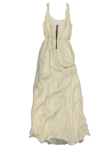 ALICE + OLIVIA Beige Silk Spaghetti Strap Dress