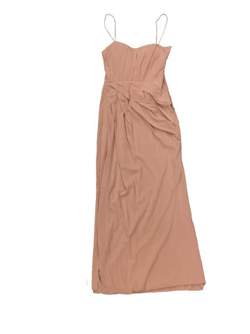 BLUMARINE Spaghetti Strap Peach Evening Gown