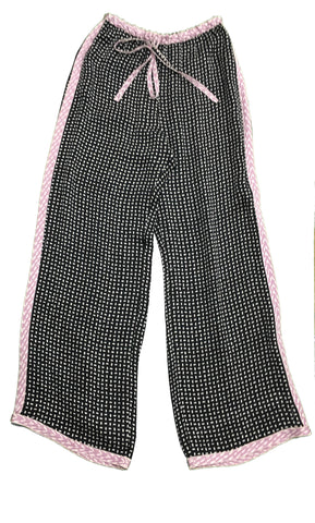 MISSONI Black and White Print Silk Palazzo Trousers