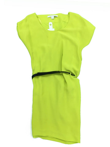 DIANE VON FURSTENBERG Green Dress with Belt